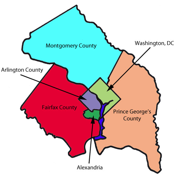 DC Area Map